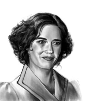 Eva Green sketch 4 by tonyob