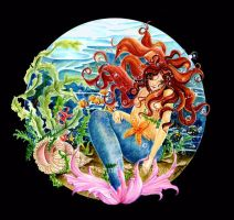 Mermaid Circle by JoannaBromley