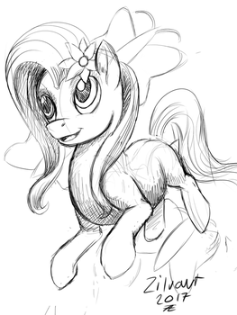 Fluttershy sketch Daily draw 0014 by zilvart