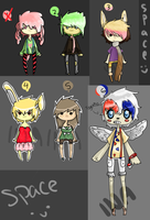Leftover Adopts [discounted! all below 50pts] by InotNedlohAdopts