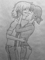 Adrien And Marinette Kiss by DoomBerry83