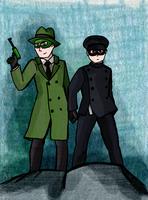 Green Hornet and Kato by Lieju