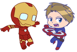 Chibi heroes (Cut) by Gameaddict1234