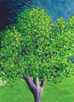 A tree in Sanchez park - painting by J-Juno
