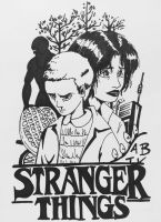 BW Stranger things by mosuga