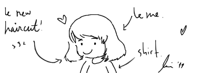 Le me with new haircut. by Soki-poo