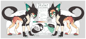Skylar ref 2017 by meremolf