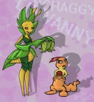 Leavanny and Scraggy