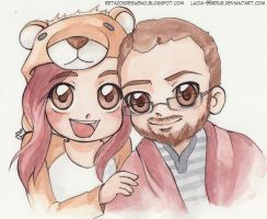 Chibi Couple 2| Commission by Lucia-95RduS