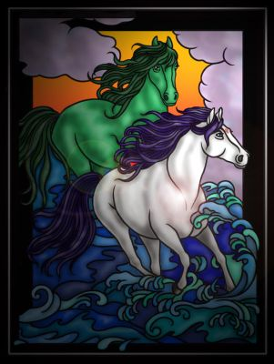 Horses In the Waves - Raven and Beast Boy by ShadowclawFC