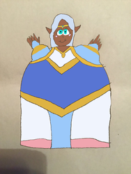 Inflated Princess Allura colored by Montyclan