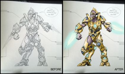 Starcraft II Legacy of the Void Coloring book by yu-yi