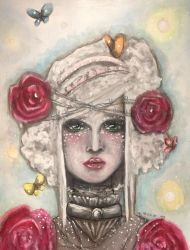 Lady of barbed roses by jmbateman