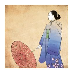 Japanese Woman in Kimono by sunteam