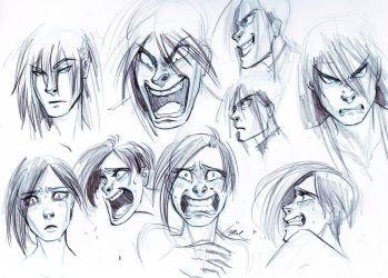 Trying Some Anger and Fear - Expressions by Myed89