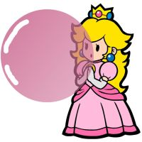 Princess Peach Gum (Super Paper Mario) by mrentertainment