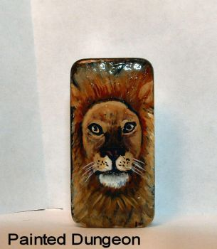 Male Lion Leopard Recycled Art Dominoe / Domino by whuffie