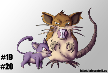 Rattata Family- Gotta Draw Em All #19,20 by Punished-Kom