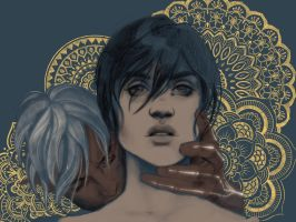 Fenris and Hawke by AgarthanGuide