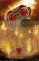 Attack on Goggalor by VickyViolet