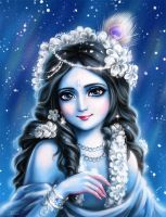 Krishna and snow by Develv
