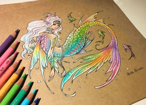 Rainbow mermaid by AlviaAlcedo