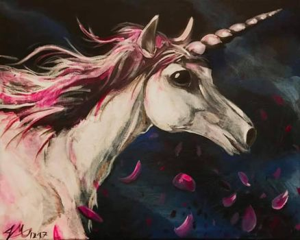 rose unicorn by Jaymooers