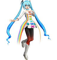 .:Rainbow Line Miku:. by WeFede