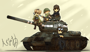 The T-34-85 by Arjay-the-Lionheart
