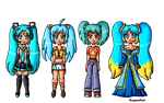 Blue pigtail girls by ninpeachlover