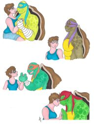 Request Hannah and the turtles moments by AliceCherie