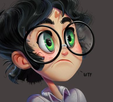 One face a day 216/365. Harry Potter by Dylean