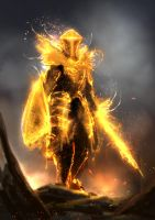 Soldier of the Sun / Golden Phantom by conorburkeart