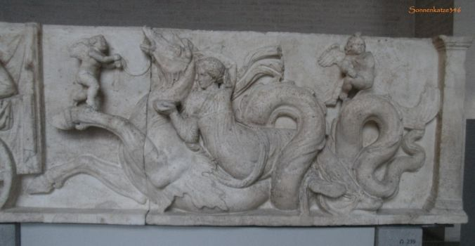Glyptothek munich 5: Nereid, Erotes and Hippocamp by Sonnenkatze346