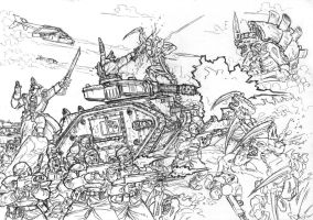 WH 40K sketch by PenUser