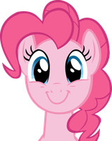 An apparently happy Pinkie Pie by SuxtonHael
