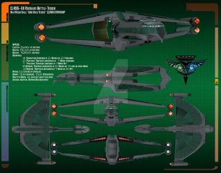 Romulan Warbird Tender Data Sheet by Kodai-Okuda