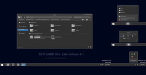 SAO dARK Theme Windows 8.1 by Cleodesktop