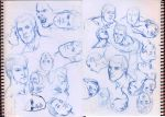 faces sketch 02 by pansica