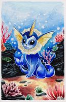 Watercolor Vaporeon by BluHiroo