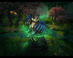 Panda Monk Wallpaper 2 by Uberkayt