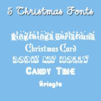 5 christmas font by Ofmyforyou