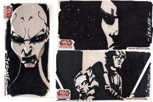 Clone Wars sketch  cards 6 by sobad-jee