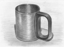 A metal coffee cup by tulvit