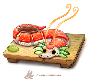 Daily Paint 1305. Dragon Roll by Cryptid-Creations