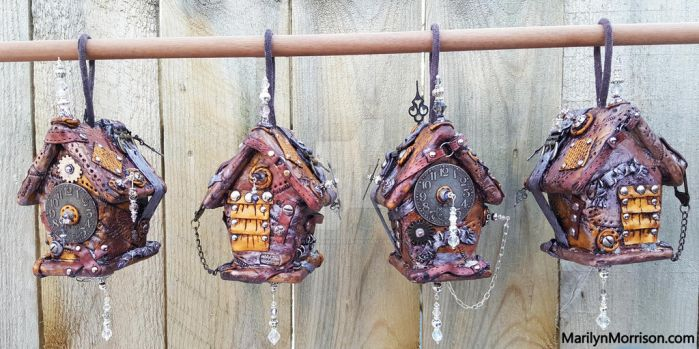 Steampunk Birdhouses (the back) by MarilynMorrison