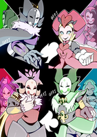 The Rulers of the Four Suites by Pretty-Pink-Jester