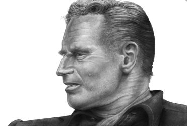 Charlton Heston   Profile     BnW   SML   IMG by RodgerHodger