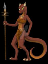 Tribe Female Lizard by DiScOrSaUrUs
