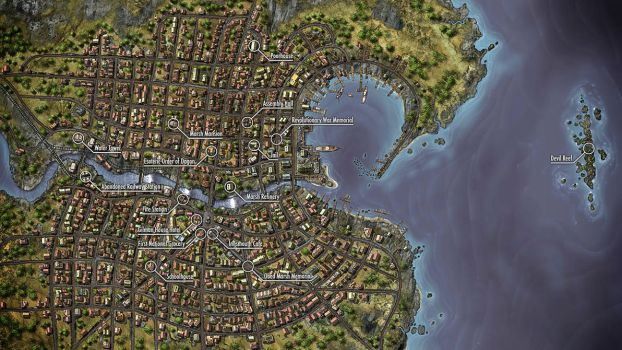 Annotated Innsmouth Map by Danial79